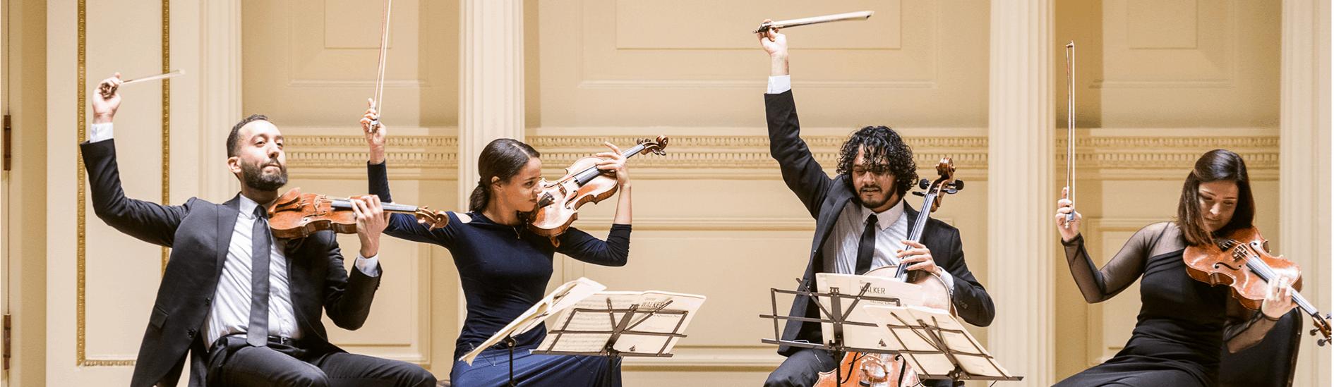 APAP NYC 2020 YPCA Participants, Ivalas Quartet, by Adam Kissick/APAP